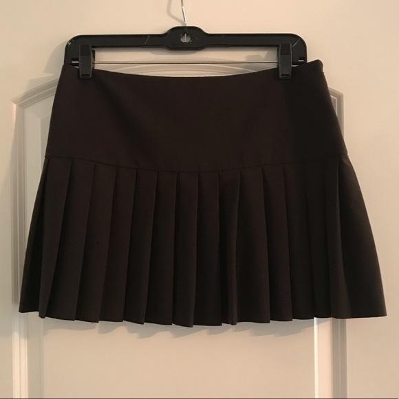 4de7cfbc4 Theory Skirts | Brown Pleated Skirt | Poshmark
